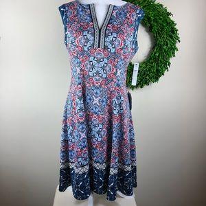 MAGGY LONDON | Paisley Print Midi Dress NWT 8 Boho